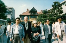 Gregory Peck and his wife Veronique on a visit to Asia.