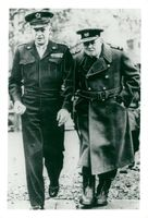 General D. Eisenhower tillsammans med Sir Winston Churchill