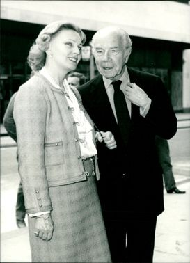 Prince Bernadotte of Sweden with his wife.