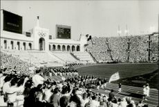 OS in Los Angeles 1984. A public image from the opening ceremony of the Los Angeles Memorial Coliseum