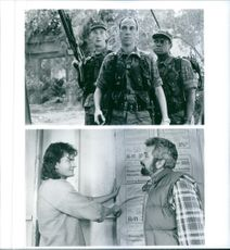 """A photos of Charlie Sheen and Bob Vila in a film """"Hot Shots!2"""""""