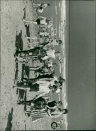 View of people in the beach.