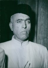 Close up of politician Sheikh Mohammad Abdullah