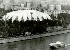 OS village in Moscow. Volleyball arena