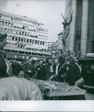 A picture showing the neutrality of Sweden during the wartime. 1945