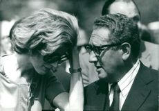 Henry Kissinger with his wife Nancy