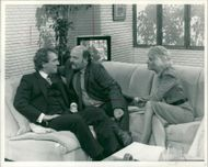 Richard Michael Mayall with nick stringer and jayne irving.