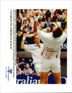 Stefan Edberg plays the double elite together with Petr Korda.