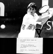 Arnaud Boetsch in action during the Swiss Open 1994