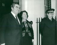 Denis Healey with his wife Edna off 10 Downing Street