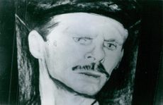 A painting of a man.