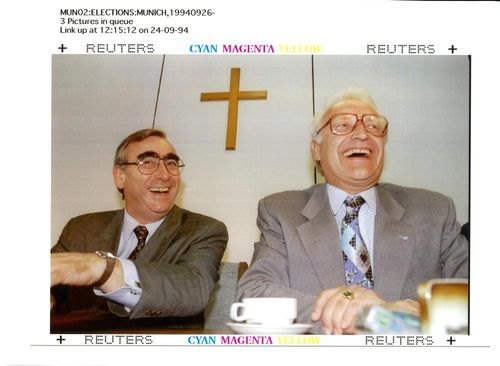 Theo Waigel with Edmund Stoiber.