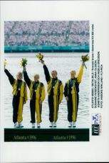 OS in Atlanta 1996. Swedish bronze in women's K4 500 meters. Susanne Rosenqvist, Anna Olsson, Agneta Andersson and Ingela Ericsson