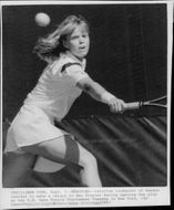 Tennis player Catarina Lindqvist in action at the US Open