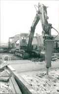 View of constructing site.