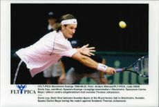 Carlos Moya during the semi final against Thomas Johansson in Davis Cup 1998