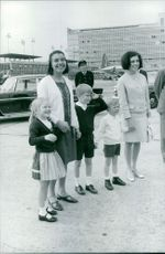 Prince Albert II's family. Photo taken May 22, 1967