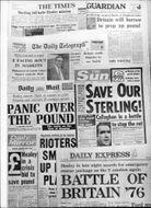 British newspapers: The Times, The Guardian, The Daily Telegraph, Daily Mail, The Sun, Daily Express, Daily Mirror