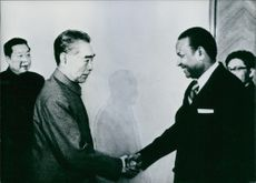 Chou En-Lai and Amadou Mathar M'bow