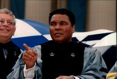 Portrait image of Muhammad Ali, taken in connection with his appointment as Honorary Doctor of Columbia University.