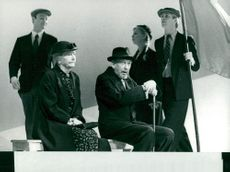 "Dora Söderberg, Olle Hilding, Gunilla Olsson and Göran Järvefelt in ""Sun, what do you want me?"""