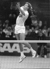Stefan Edberg in action