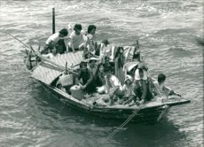 vietnamese boat people completed the perilous journey to hong kong.