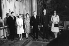 Charles André Joseph Marie de Gaulle in group photo.