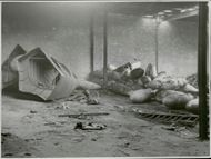 Freia chocolate factory, destroyed by sabotage.