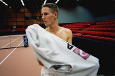 Portrait image of the Swedish tennis player Henrik Holm.