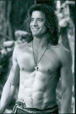 Brendan James Fraser in the Disney film George of the Jungle, 1997.