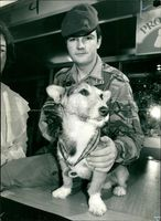 Ulster veteran Rats the Dog with L/Col. Arwel Lewis.