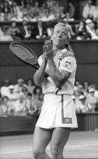 Tennis player Martina Navratilova