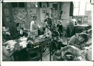 Schools 1970-1979:Mrs hargreaves and her pupils.