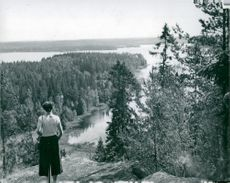Granitberg Rävfjäll in Tiveden's big municipality where Vattenfall investigates the suitability for the location of the nuclear power plant Eva