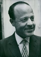 Portrait of Israeli politician Shmuel Toledano, 1971.