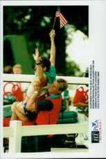 Dolph Lundgren, leader of the American Modern Five Match Team during the Atlanta Olympic Games in 1996