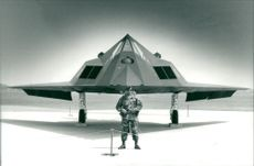 Aircraft: Military - F-117A Stealth Fighter.