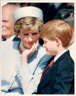 Princess Diana together with little prince Harry