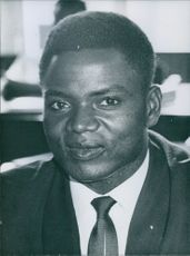 Portrait of  a Central African Republic Diplomats Auguste Mboe in Congo, Africa. 1963