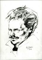 An illustration of August Strindberg performed by Mark Sylwan