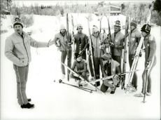 Bjarne Andersson with the ski country team