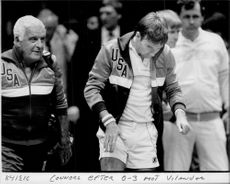Jimmy Connors after 0-3 against Vilander during the Davis Cup final