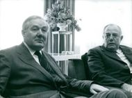 James Callaghan and Balthazar Johannes Vorster having discussions on the future of southern Africa.