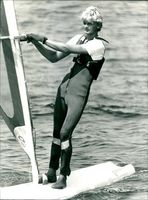 Dave Hackford from Weymouth during the British board-sailing trials.