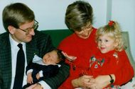 Carl Bildts with wife Mia, daughter Gunnel and five-day-old son Nils