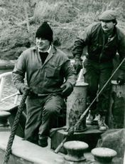 River Tanar George Norman and crewman Karl in stricken ferry.