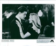 Brendan Fraser and Amy Locane scene in the film School Ties, 1992.