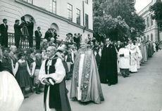Uppsala Cathedral: The church procession on the verge of the feast.