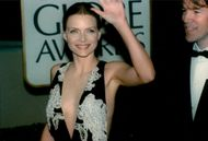 Michelle Pfeiffer with her husband David E. Kelley at the Golden Globe Awards